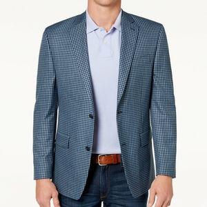 Men's classic - fit blue sport coat